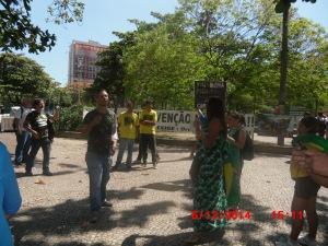 Manifestação em Ipanema